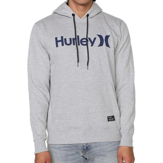 Moletom Hurley Fechado O&O Solid Masculino - Cinza