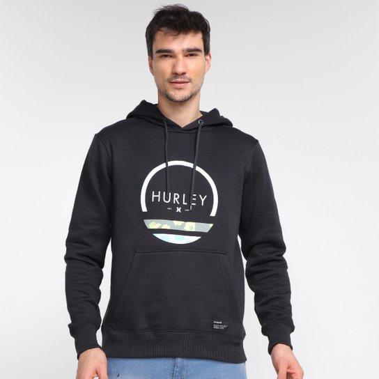 Moletom Hurley Olas Pe Canguru Masculino - Preto