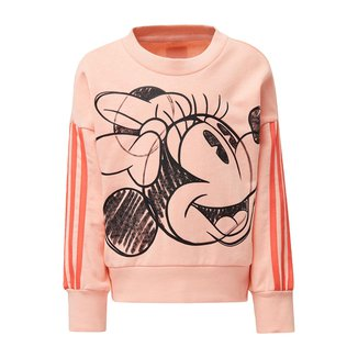 Moletom Infantil Adidas Minnie Mouse Crew Feminino