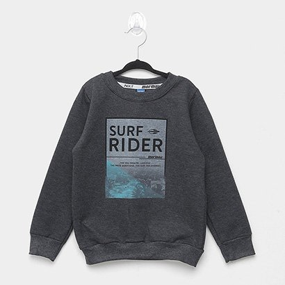 Moletom Infantil Mormaii Surf Rider Básico Masculino
