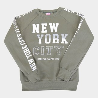 Moletom Juvenil For Girl New York City
