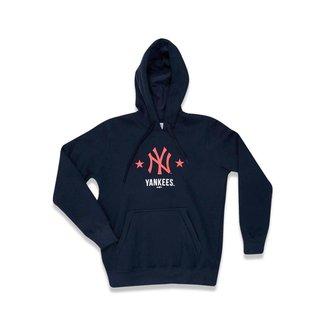 Moletom New Era Juvenil Canguru Fechado New York Yankees MLB
