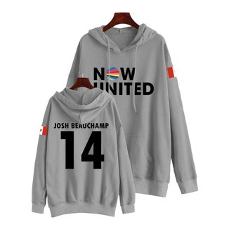 Moletom Now United Josh Beauchamp 14 Em Algodão Feminino