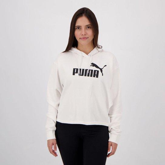 Moletom Puma Cropped Hoody Feminino - Branco