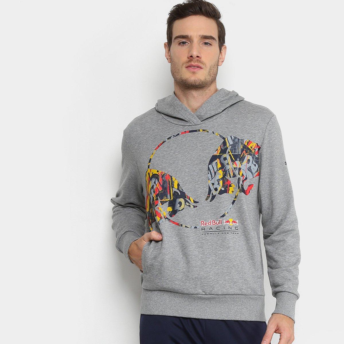 Moletom Puma Double Bull Red Bull Racing Masculino - Cinza - Compre ... 1e2023c399b