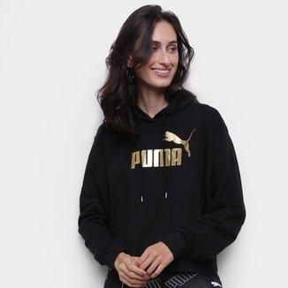 Moletom Puma Ess Metalic Cropped Hoody Tr Feminino