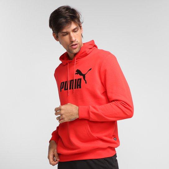 Moletom Puma Essentials Canguru Masculino - Vermelho