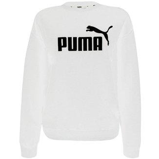 Moletom Puma Essentials Logo Crew Fl Feminino
