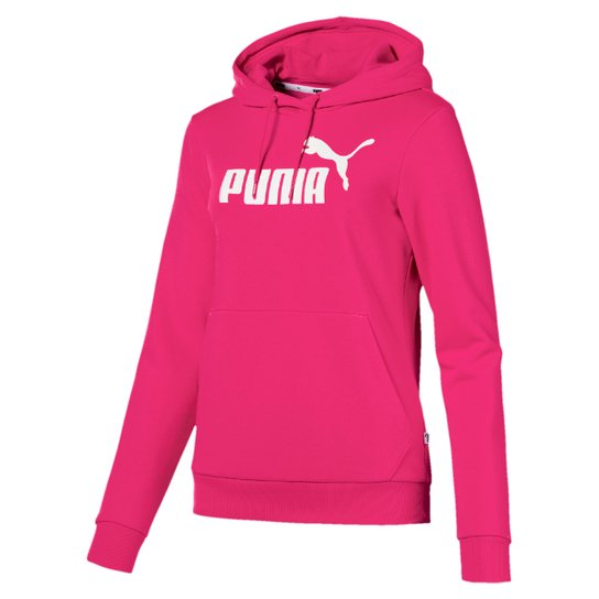 Moletom Puma Essentials Logo Hoody Feminina - Rosa