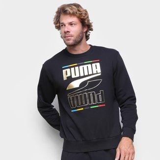 Moletom Puma Rebel Crew 5 Continents Masculino