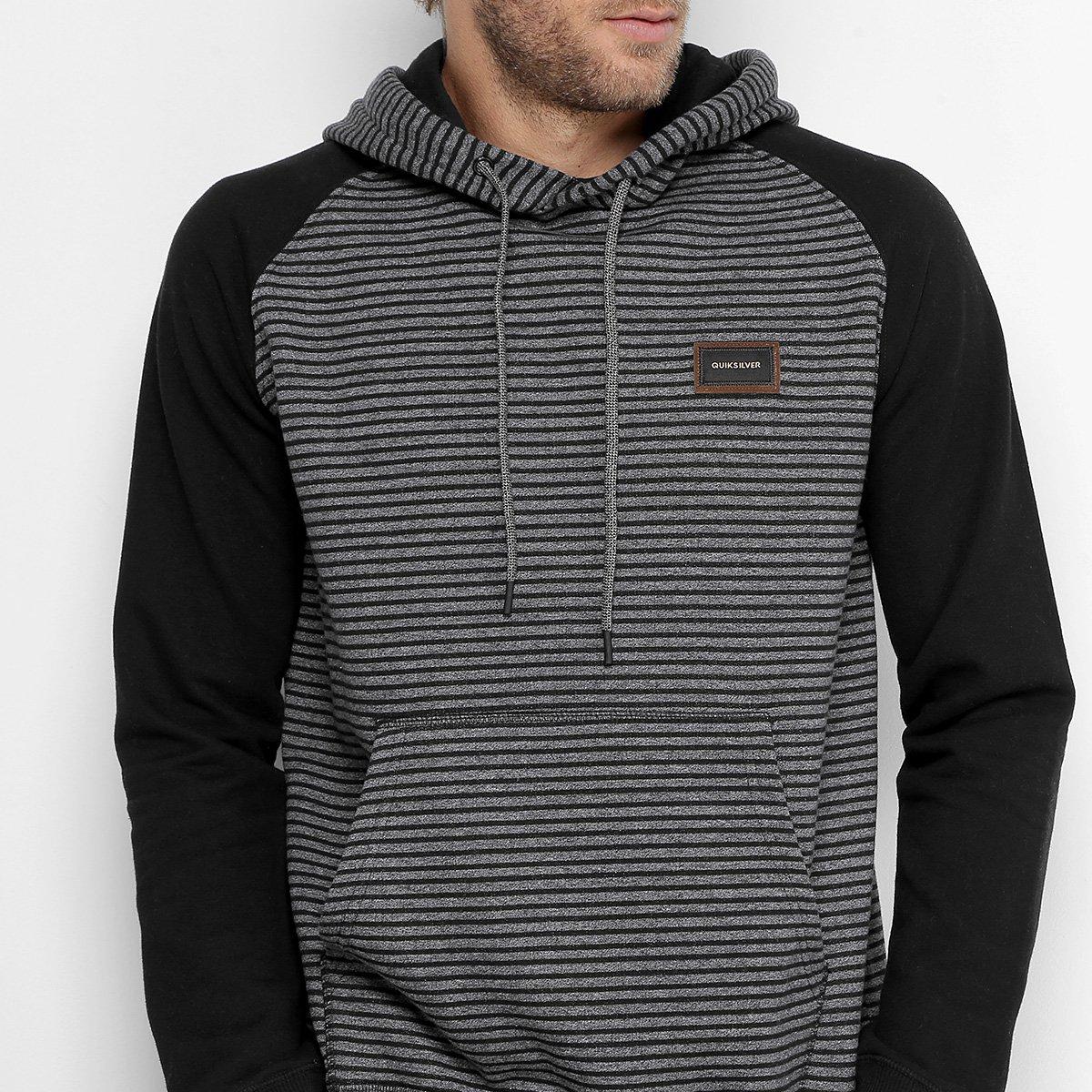 Moletom Quiksilver Especial Stripes Hood Masculino - Compre Agora ... e3ca944328