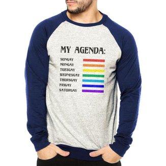 Moletom Raglan LGBT Agenda Gay Masculino