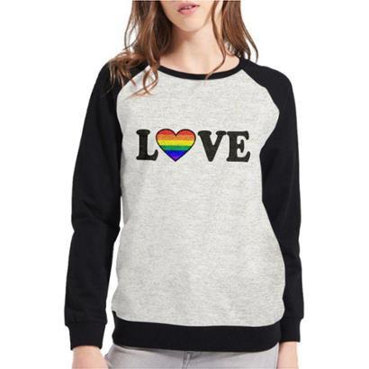 Moletom Raglan LGBT Love Feminino