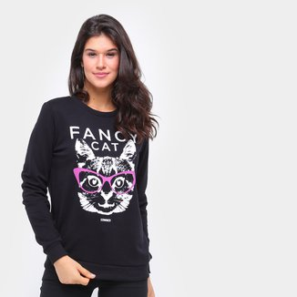 Moletom Sommer Fancy Cat Feminino