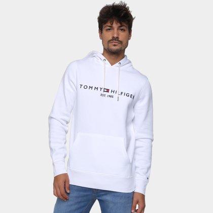 Moletom Tommy Hilfiger Logo Com Capuz Masculino