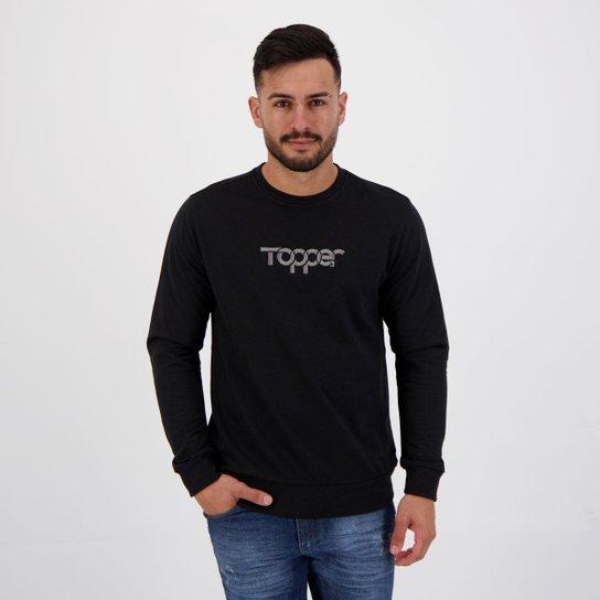 Moletom Topper Print Preto - Preto