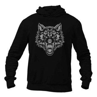 Moletom Unissex com Capuz Wolf Night Km10 Sports