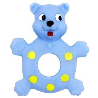 Mordedor Bebê Menino Urso Pais e Filhos Azul