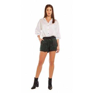 Morena Rosa Shorts Morena Rosa Boxer Composê De Tecidos Verde