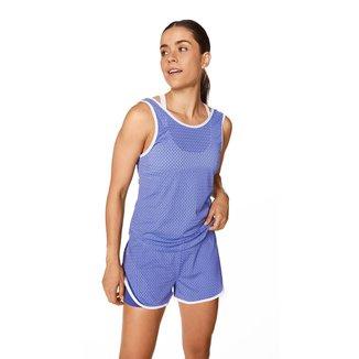 Morena Rosa Shorts Morena Rosa Boxer Detalhe Contraste Azul/Branco