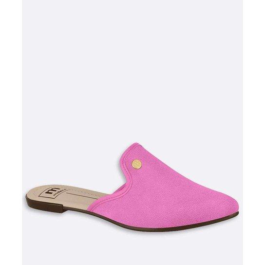 Mule  Bico Fino Moleca Feminino - Rosa