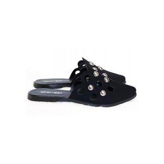 Mule Bico Fino Sapatos e Botas Flat Esferas Feminino