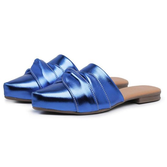 Mule Carmelo Shoes Feminino - Azul Escuro