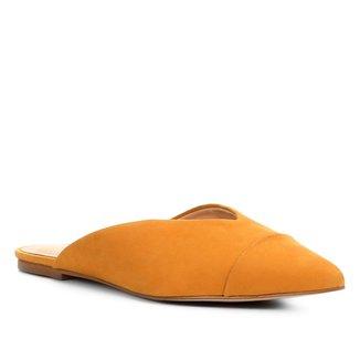 Mule Couro Shoestock Bico Fino Feminina