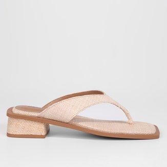 Mule Couro Shoestock Clássico Salto Bloco