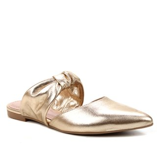 Mule Couro Shoestock Flat Soft Camurça