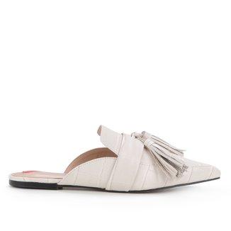 Mule Couro Shoestock Flat Tassel