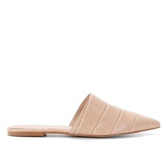 Mule Couro Shoestock Florence Croco Bico Fino