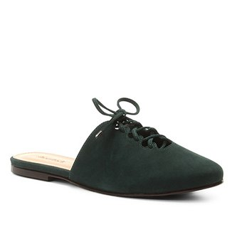 Mule Couro Shoestock Nobuck Lace Up