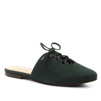 Mule Couro Shoestock Nobuck Lace Up