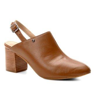 Mule Couro Shoestock Salto Médio