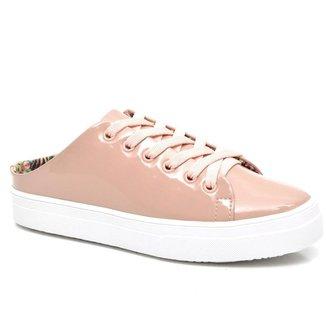 Mule JL Shoes Verniz Moderno Conforto Leve Feminino