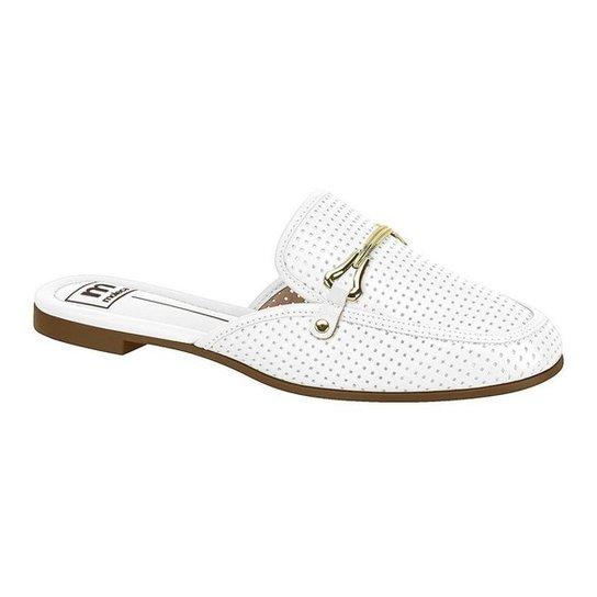 Mule Moleca Feminino Branco Furadinho - Calce Fácil - Branco