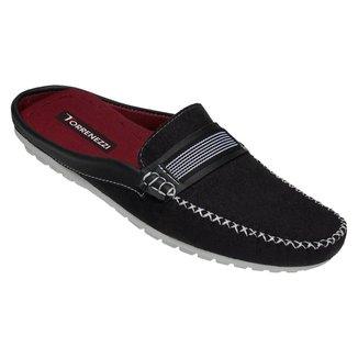 Mule Sapato Masculino Confortavel Lancamento Preto