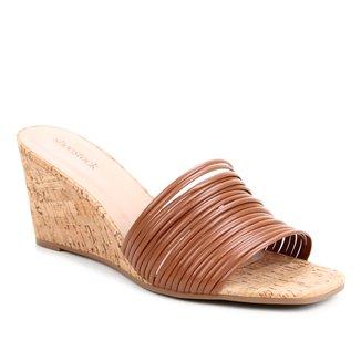 Mule Shoestock Anabela Tiras