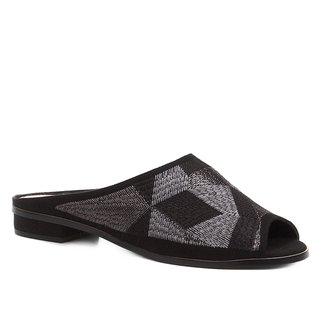 Mule Shoestock Bico Fino Geometric