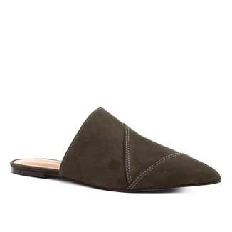 Mule Shoestock Flat Camurça