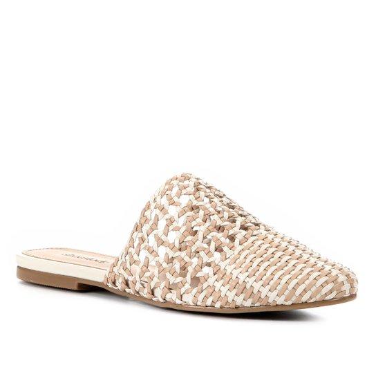 Mule Shoestock Flat Macramê - Nude