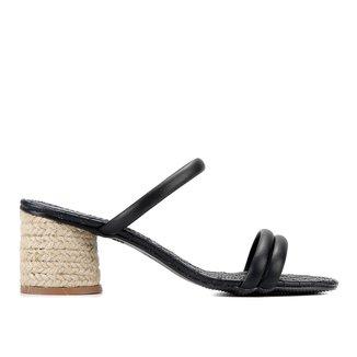Mule Shoestock Matelassê Salto Corda