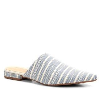 Mule Shoestock Tecido Bico Fino Feminina