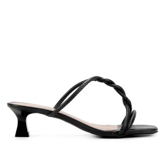 Mule Shoestock Tiras Salto Médio