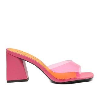 Mule Shoestock Vinil Color Bloco