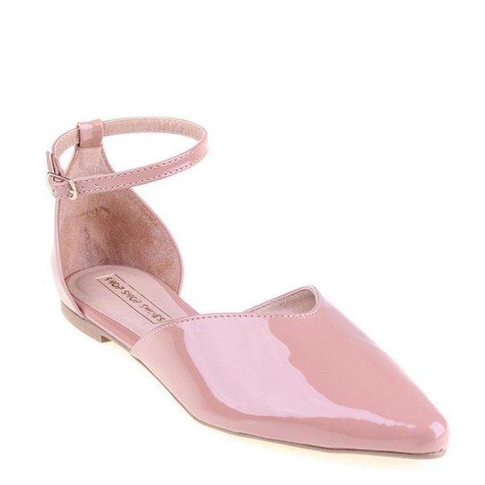 Mule Shop Shop Shoes Verniz Feminino - Rosa