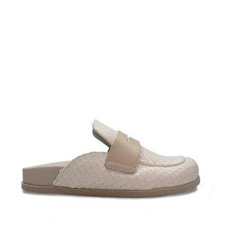 Mule Smidt Shoes com escamas off white