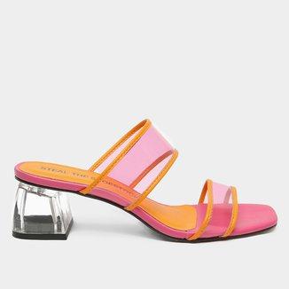 Mule Steal The Shoestock Vinil Color Salto Acrílico