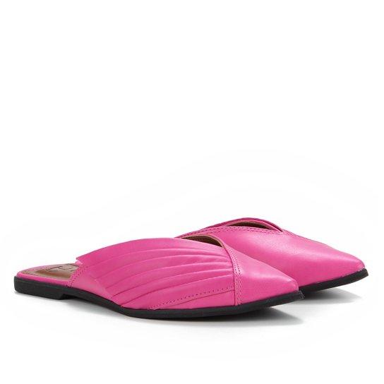 Mule Tanara Bico Fino Feminina - Pink